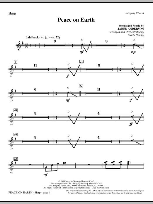 Peace On Earth - Harp (Choir Instrumental Pak)