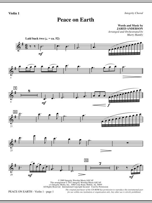 Peace On Earth - Violin 1 (Choir Instrumental Pak)