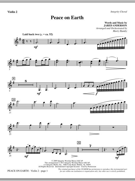 Peace On Earth - Violin 2 (Choir Instrumental Pak)