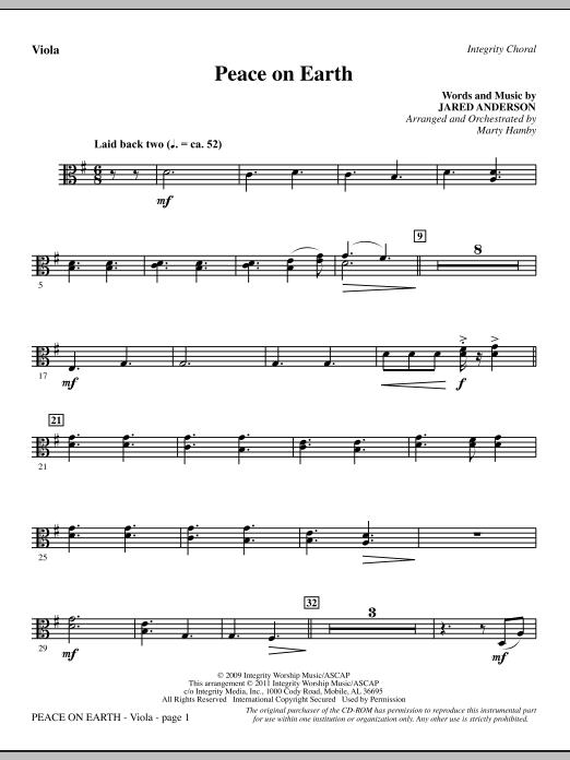Peace On Earth - Viola (Choir Instrumental Pak)