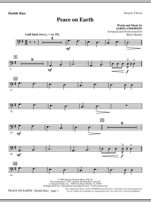 Peace On Earth - Double Bass (Choir Instrumental Pak)