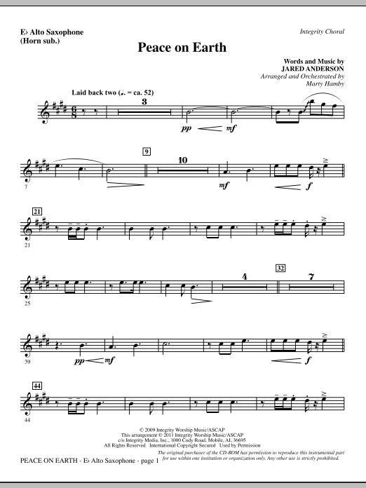 Peace On Earth - Alto Sax (sub. Horn) (Choir Instrumental Pak)