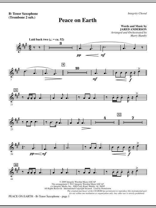 Peace On Earth - Tenor Sax (sub. Tbn 2) (Choir Instrumental Pak)