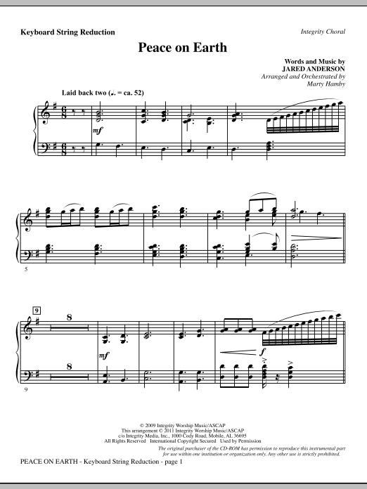 Peace On Earth - Keyboard String Reduction (Choir Instrumental Pak)