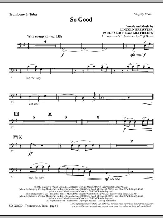 So Good - Trombone 3/Tuba (Choir Instrumental Pak)