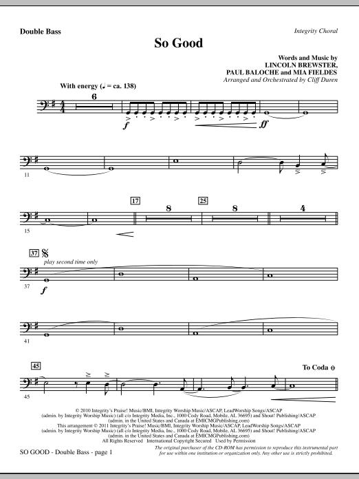 So Good - Double Bass (Choir Instrumental Pak)