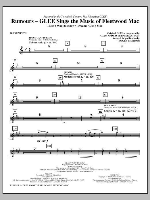 Rumours: Glee Sings The Music Of Fleetwood Mac - Bb Trumpet 2 (Choir Instrumental Pak)