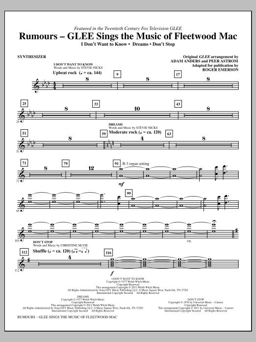 Rumours: Glee Sings The Music Of Fleetwood Mac - Synthesizer (Choir Instrumental Pak)
