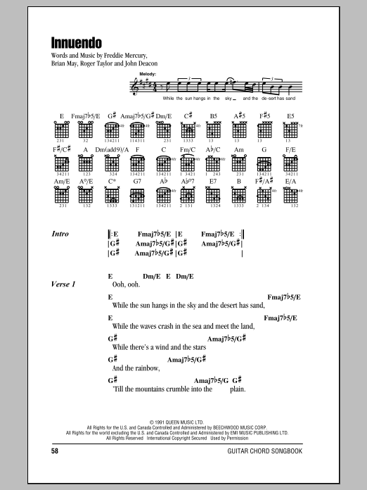 Innuendo Sheet Music