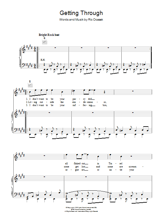Getting Through Sheet Music