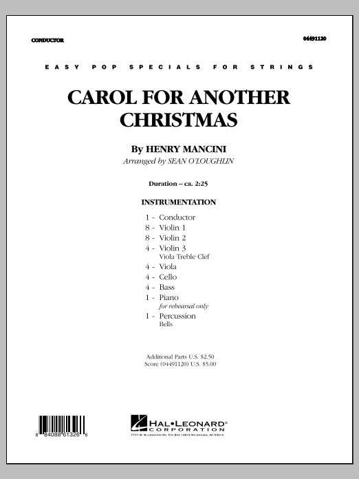 Carol For Another Christmas - Full Score (Orchestra)