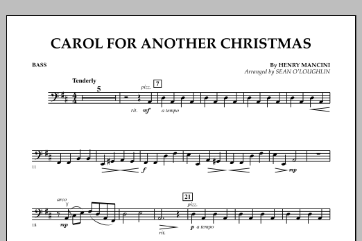Carol For Another Christmas - Bass (Orchestra)