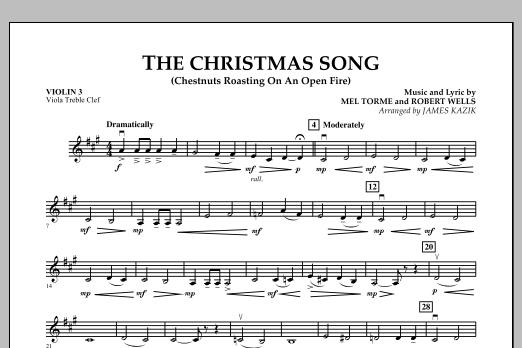 The Christmas Song - Violin 3 (Viola Treble Clef) (Orchestra)