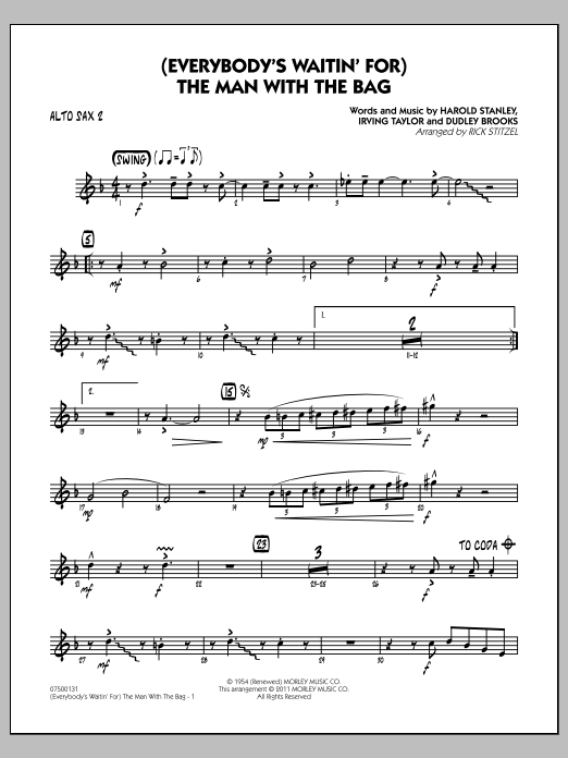 (Everybody's Waitin' For) The Man With The Bag - Alto Sax 2 (Jazz Ensemble)