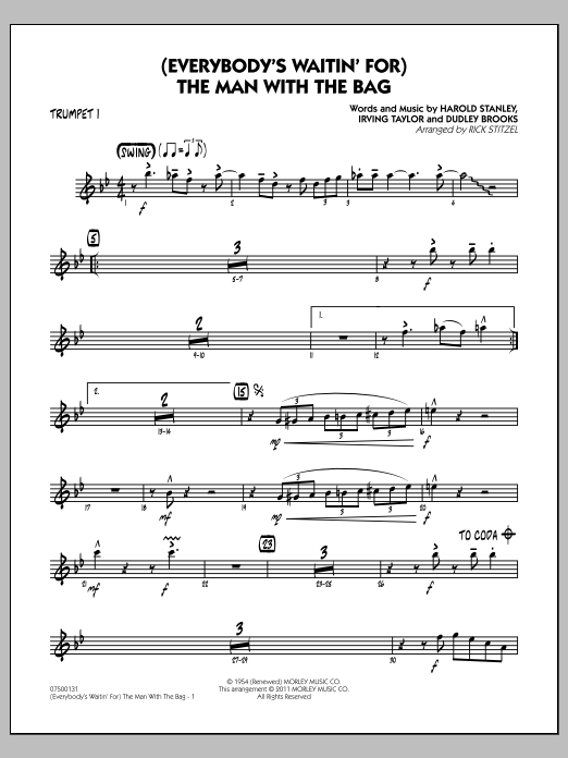 (Everybody's Waitin' For) The Man With The Bag - Trumpet 1 (Jazz Ensemble)