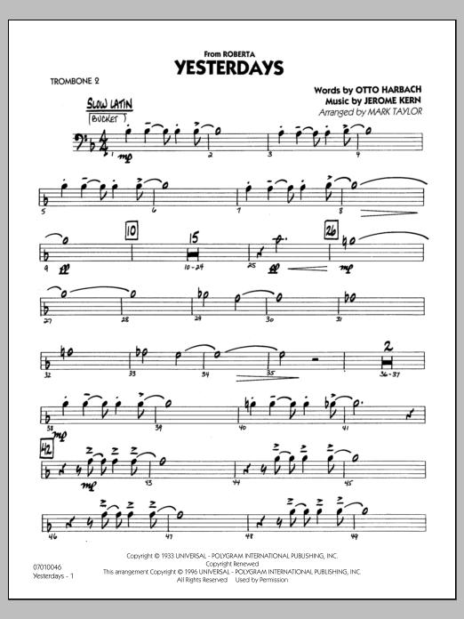 Yesterdays - Trombone 2 (Jazz Ensemble)