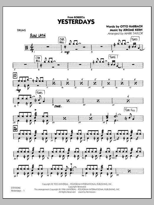 Yesterdays - Drums (Jazz Ensemble)