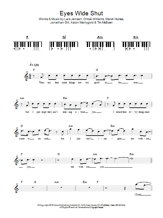 Eyes Wide Shut Sheet Music
