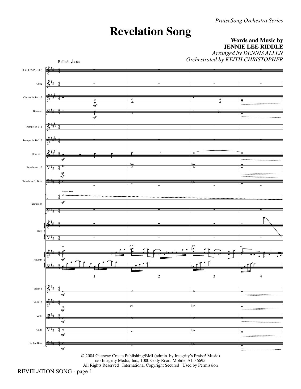 Revelation Song - Full Score Sheet Music