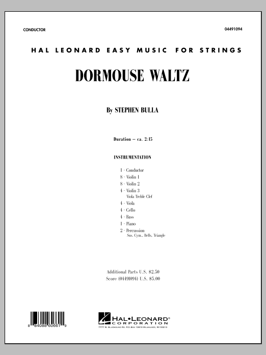 Dormouse Waltz (COMPLETE) sheet music for orchestra by Stephen Bulla. Score Image Preview.