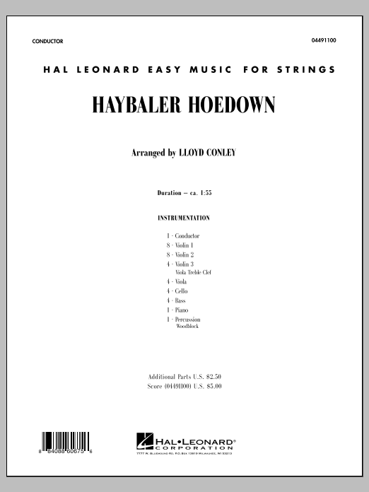 Haybaler Hoedown (COMPLETE) sheet music for orchestra by Lloyd Conley. Score Image Preview.