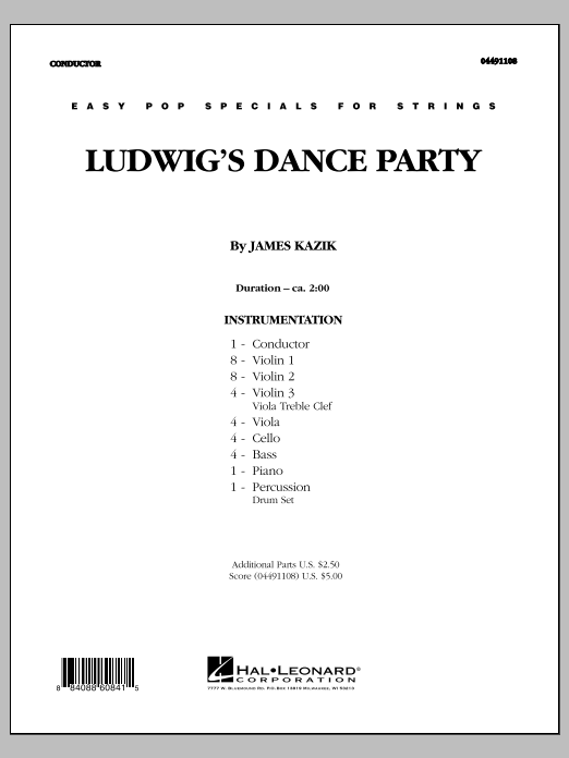 Ludwig's Dance Party (COMPLETE) sheet music for orchestra by Ludwig van Beethoven and James Kazik. Score Image Preview.
