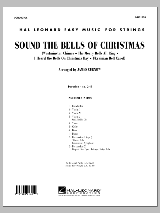 Sound The Bells Of Christmas (COMPLETE) sheet music for orchestra by James Curnow. Score Image Preview.