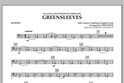 Greensleeves - Bassoon (Concert Band)