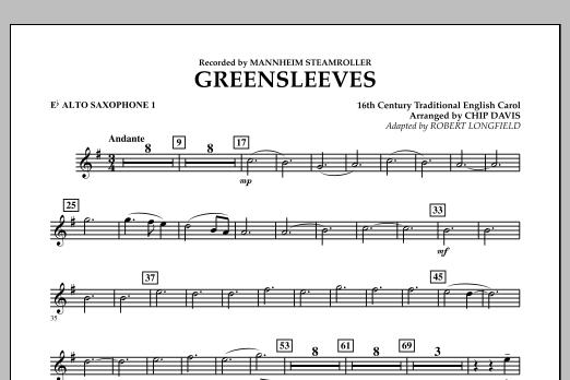 Greensleeves - Eb Alto Saxophone 1 (Concert Band)