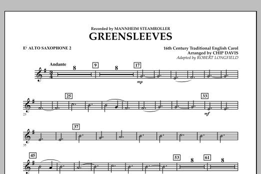 Greensleeves - Eb Alto Saxophone 2 (Concert Band)