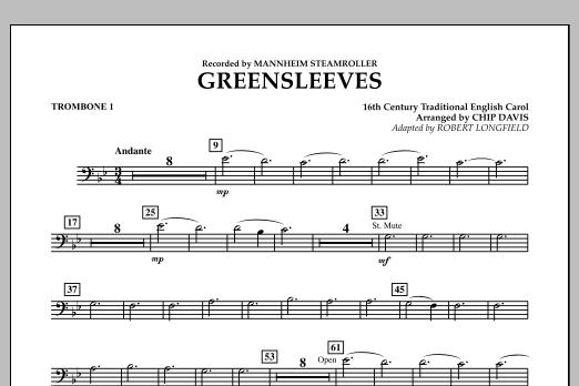 Greensleeves - Trombone 1 (Concert Band)