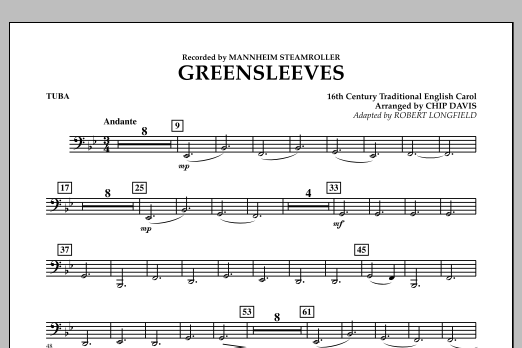 Greensleeves - Tuba (Concert Band)
