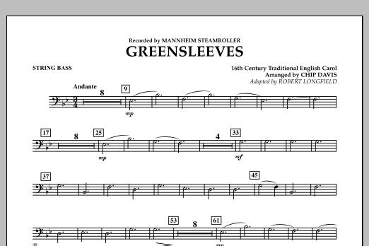 Greensleeves - String Bass (Concert Band)