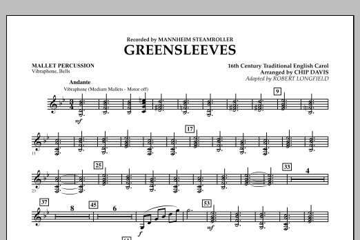 Greensleeves - Mallet Percussion (Concert Band)