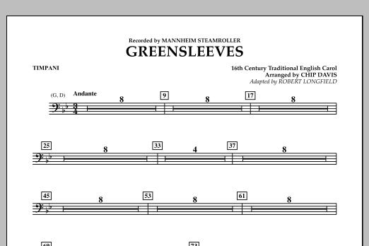 Greensleeves - Timpani (Concert Band)