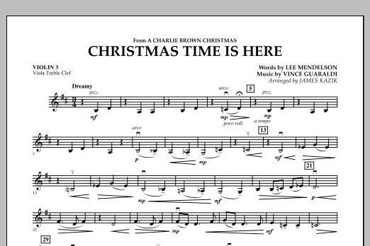 Christmas Time Is Here - Violin 3 (Viola T.C.) (Orchestra)