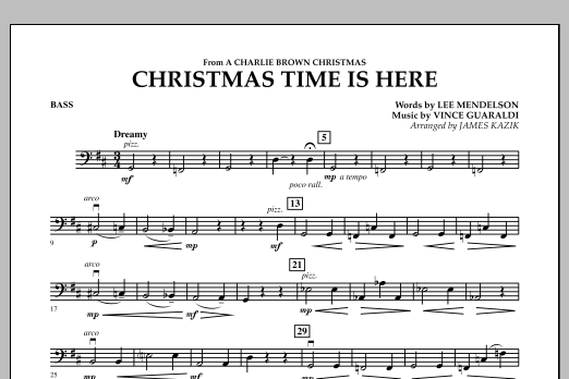 Christmas Time Is Here - String Bass (Orchestra)
