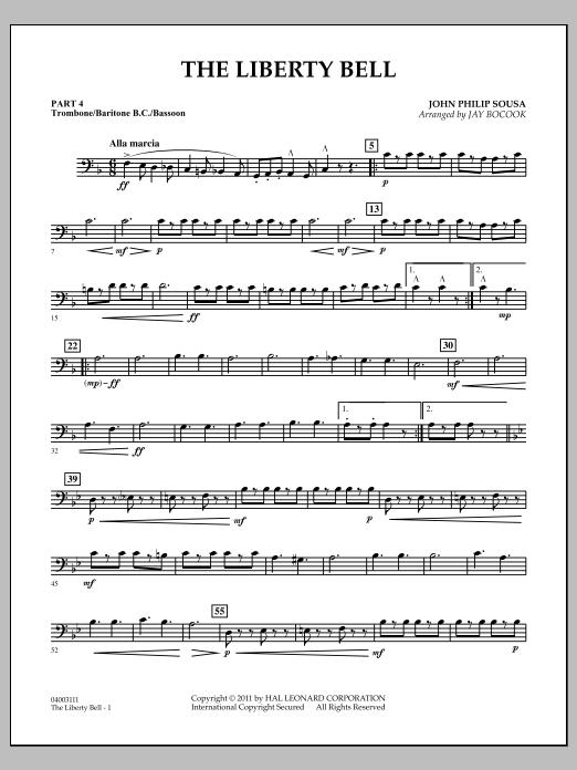 The Liberty Bell - Pt.4 - Trombone/Bar. B.C./Bsn. (Concert Band: Flex-Band)