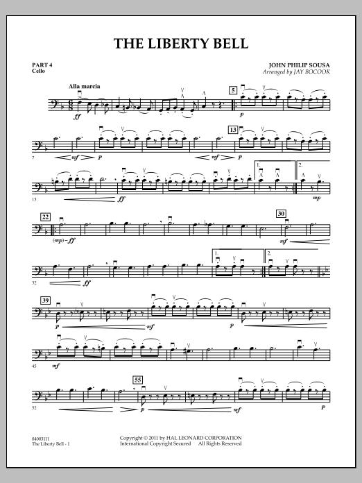 The Liberty Bell - Pt.4 - Cello (Concert Band: Flex-Band)