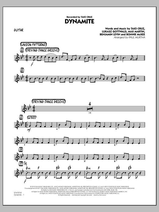 Dynamite - Guitar (Jazz Ensemble)