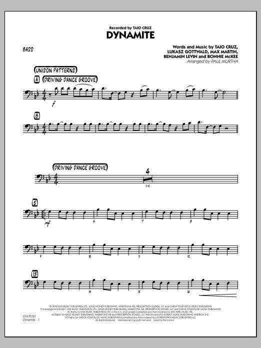 Dynamite - Bass (Jazz Ensemble)