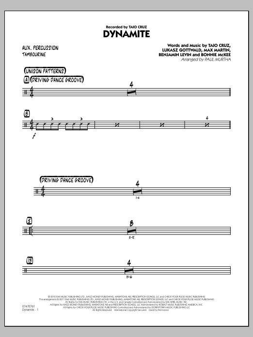 Dynamite - Aux Percussion (Jazz Ensemble)