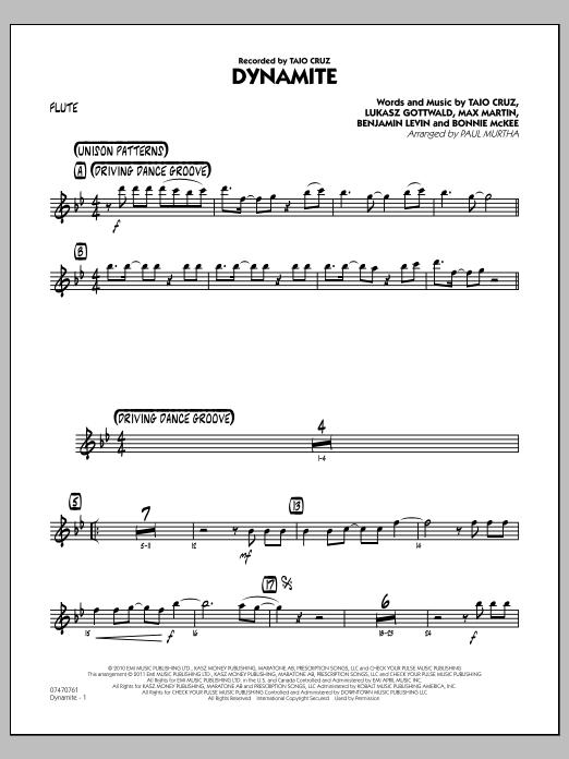 Dynamite - Flute (Jazz Ensemble)