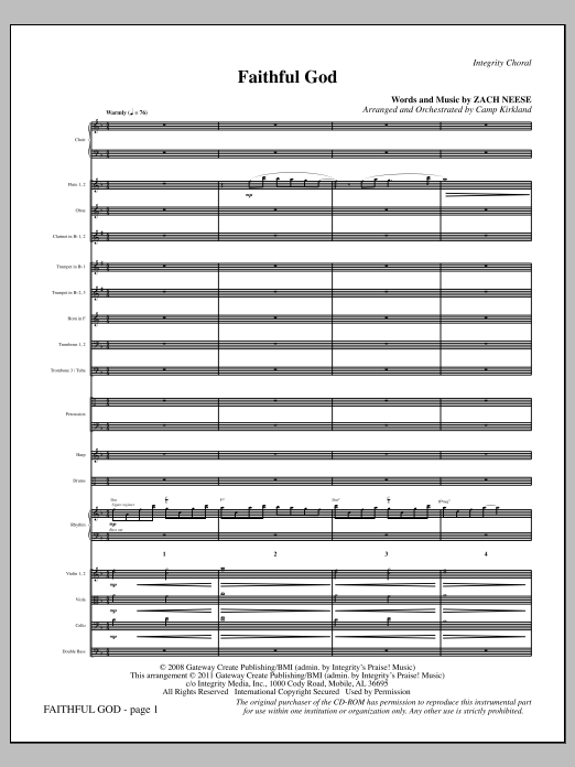 Faithful God - Full Score (Choir Instrumental Pak)