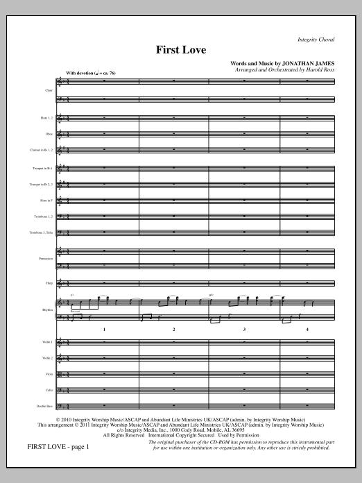 First Love - Full Score Sheet Music