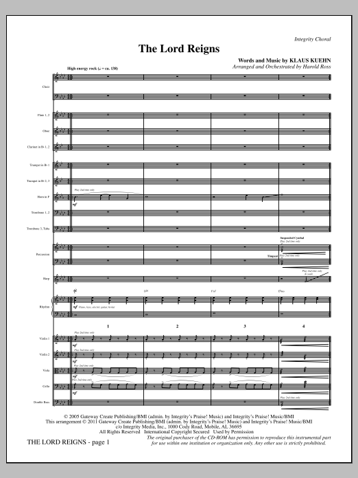 The Lord Reigns - Full Score Sheet Music