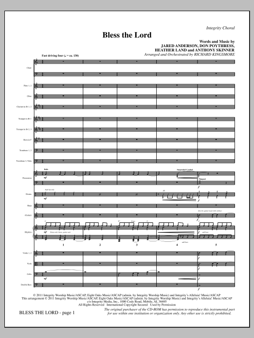 Bless The Lord - Full Score Sheet Music