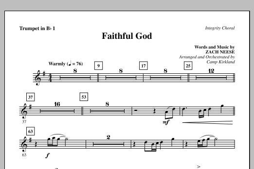 Faithful God - Bb Trumpet 1 Sheet Music