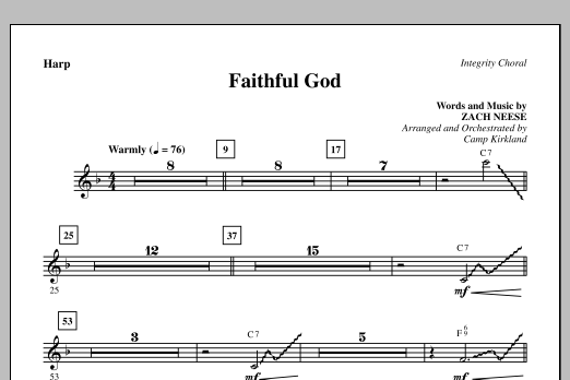 Faithful God - Harp Sheet Music