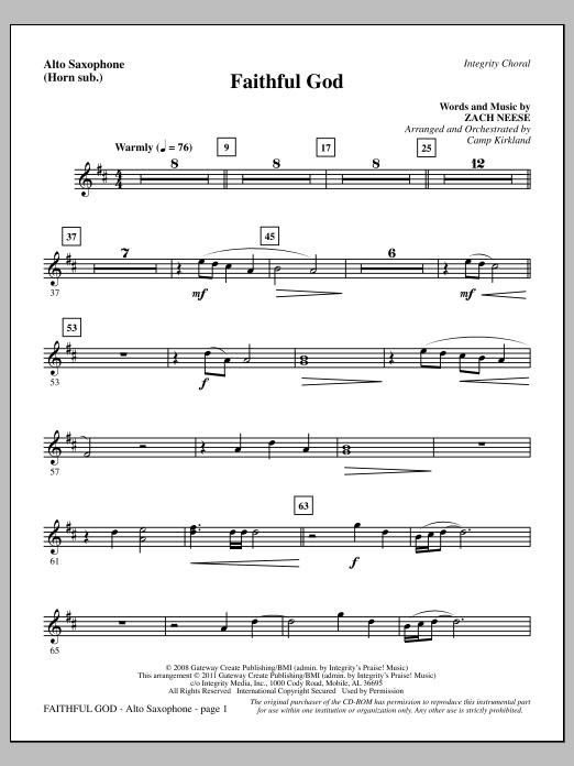 Faithful God - Alto Sax (sub. Horn) Sheet Music